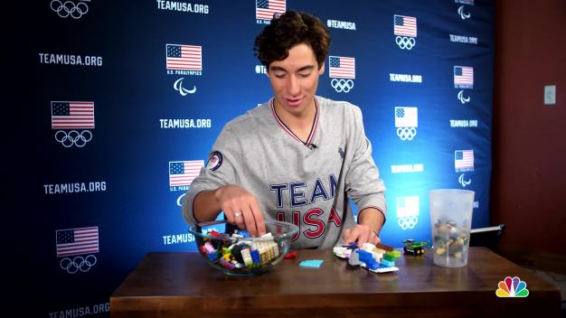 Chase Josey Explains Snowboard Halfpipe With Legos}