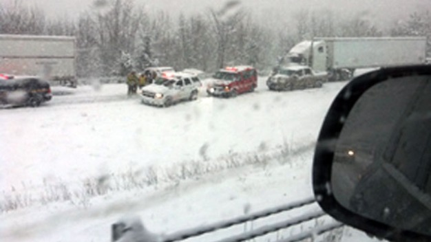 Tractor Trailer Rollover Closes I-84 West in Danbury