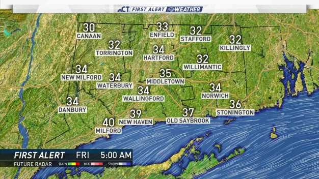 Temperatures Drop Overnight, Cold Start to Friday