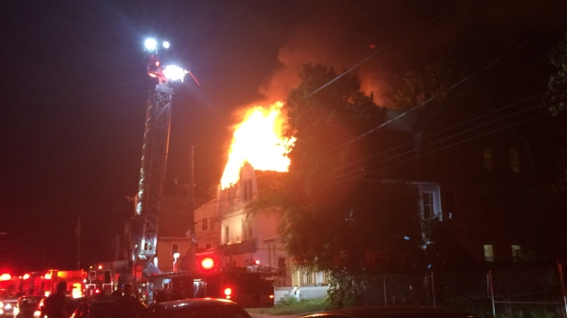 Flames Break out at Vacant Home in Hartford Overnight