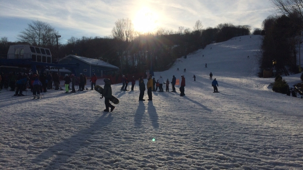 Snowstorm Encourages Skiers, Snowboarders to Hit the Slopes