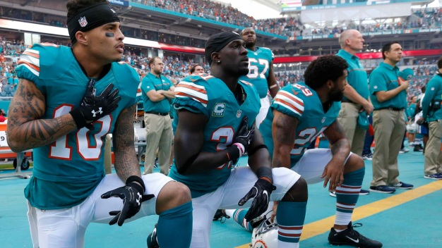 Dolphins Owner Says He Was Keeping Options Open on Anthem