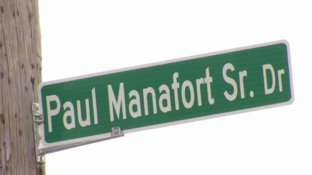 New Britain Changes Manafort Street Sign