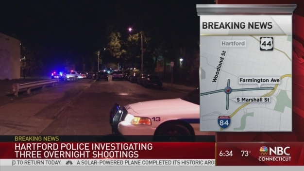 Police Investigate 3 Hartford Shootings in Less Than 3 Hours