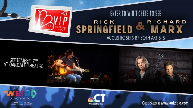 Rick Springfield and Richard Marx VIP Ticket Sweepstakes