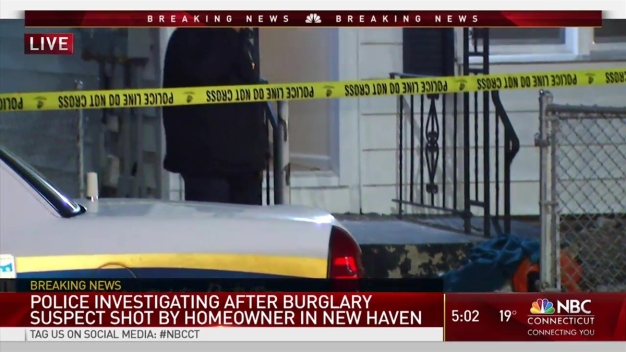 Suspected Burglar Shot Trying to Enter Home Police