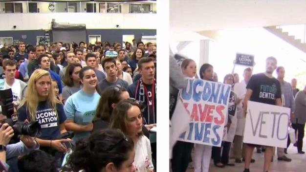 UConn Students Rally as School Faces 120 Million in Budget