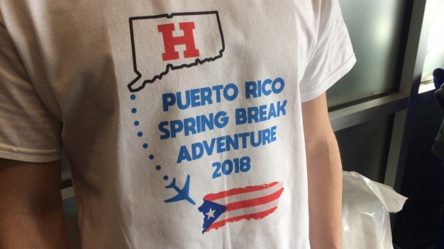 UHart Students Spend Spring Break Helping Hurricane Relief