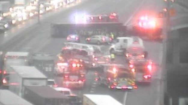 I-95 in Bridgeport Reopens Following Tractor-Trailer Rollover