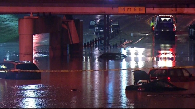 Record-Breaking Rain Floods North Texas, Prompts Rescues