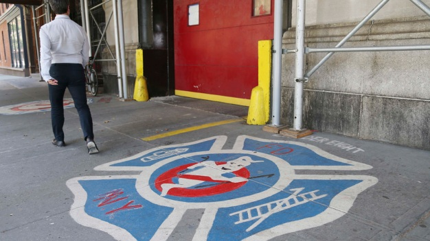 Brit Flies to NY, Proposes at 'Ghostbusters' Firehouse
