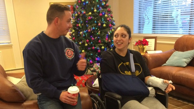 Hartford Firefighter Saves Woman From Fiery Car Crash