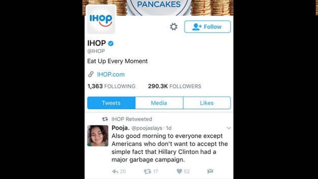 IHOP: Clinton-Related Retweet Was Result of Hacked Social Media Account
