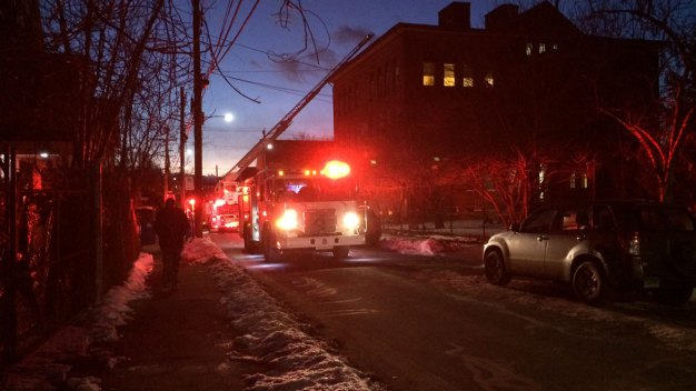Three Story Brick Building on Fire in New Haven