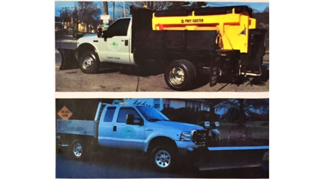 Two Snow Plow Trucks Taken in Watertown