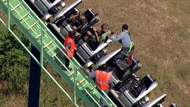 Riders Get Stuck on Texas Roller Coaster