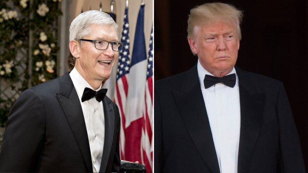 Trump Meeting With Apple's Tim Cook on Trade