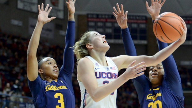 Top-Ranked UConn Routs No. 20 California 82-47