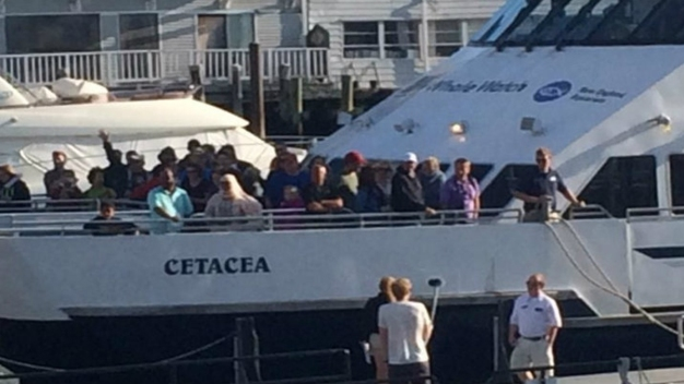 Whale Watching Boat Stranded Overnight