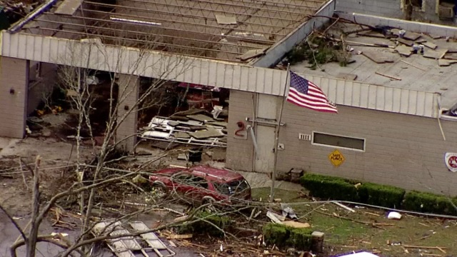 Four people were killed, roofs were ripped from homes and churches, and trees were torn from the earth early Saturday when a tornado hitting in the dark of night ripped through a region in southern Mississippi, officials said.
