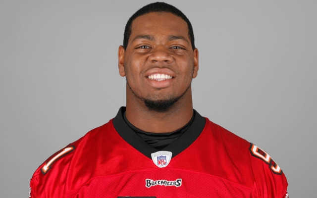 In this handout image provided by the NFL, DaQuan Bowers of the Tampa Bay Buccaneers poses for his NFL headshot circa 2011 in Tampa, Florida.