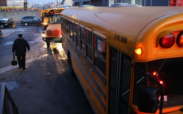 A Georgia teen was accused of stealing a school bus (not this one) after being released from jail.