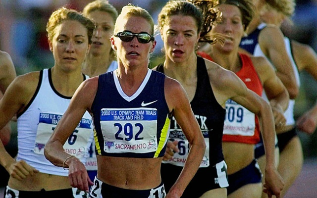 Suzy Favor-Hamilton, seen here leading the pack during a heat of the 1500m race at the U.S. Olympic Track and Field Trials in 2000, admitted to working as an escort.