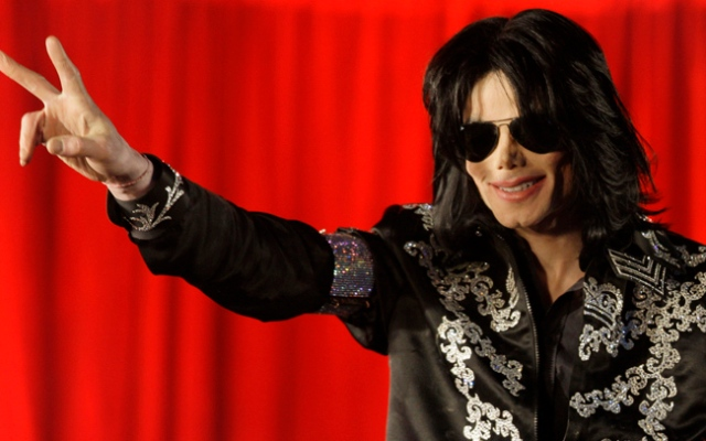Michael Jackson at a press conference to announce plans for a summer residency of concerts at the O2 Arena, Grenwich on March 5, 2009 in London, England.