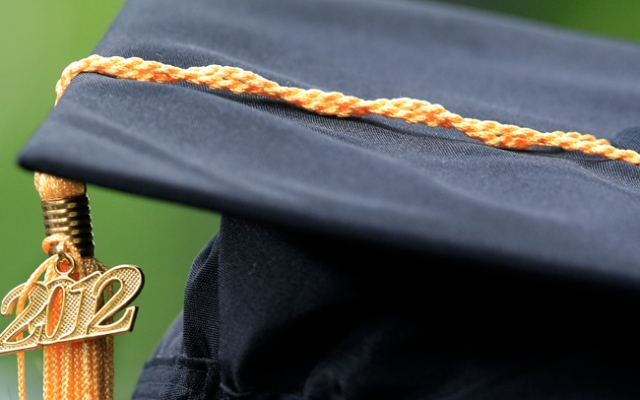 A 2012 tassle hangs on a cap during Princeton University commencement ceremonies in Princeton, N.J. Despite Weiss' 4.5 GPA, she did not get into the prestigious Ivy League school.