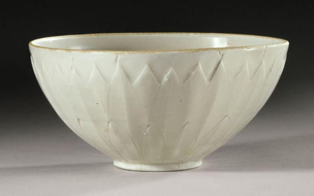 This undated photo provided by Sotheby's Auction House in New York shows a 1,000-year-old Chinese bowl from the Northern Song Dynasty.
