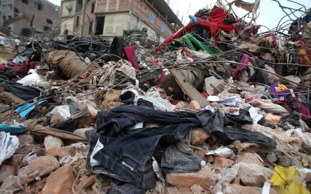 More than 620 people died when a building housing five garment factories collapsed in Savar, Bangladesh April 24.