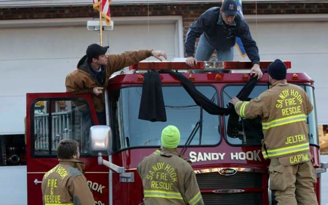 Current and former firefighters with Sandy Hook ties are collecting supplies this week for Oklahoma tornado victims.