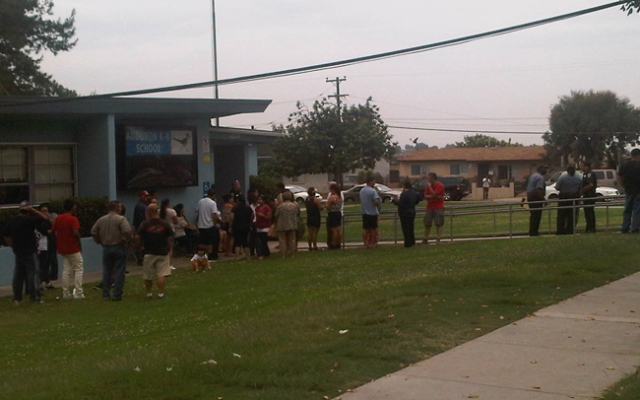 At least 10 children at Audubon Elementary School became sick Thursday after eating lunch in the cafeteria.