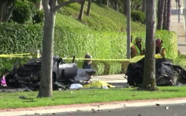 Five people died in a fiery crash in Newport Beach on Monday, May 27, 2013.