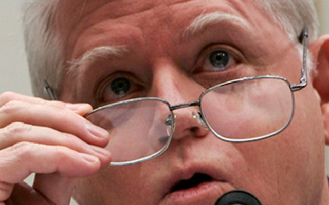 WASHINGTON - MARCH 20:  U.S. Rep. John Larson (D-CT) takes his glasses off as he testifies during a hearing before the House Foreign Affairs Committee March 20, 2007 on Capitol Hill in Washington, DC. The hearing was focused on