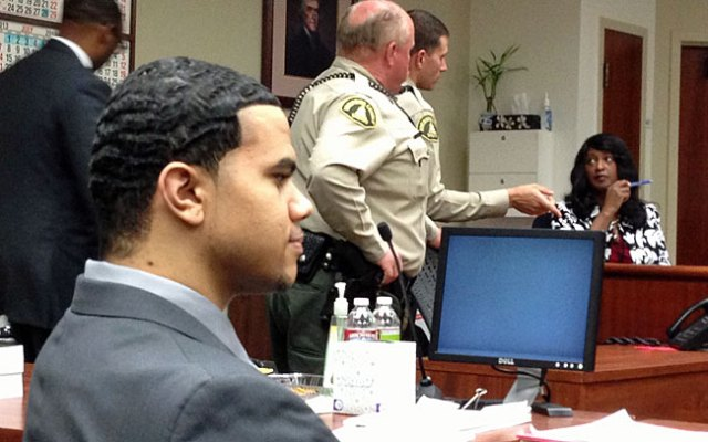 Kevin Cox appears in the Riverside County courtroom after Wednesday's verdict.