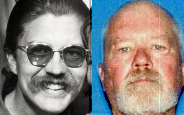 McCullough pictured in the 1970s (L) and in a recent DMV photo.