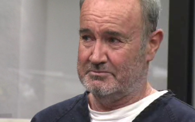 Peter Robbins, 56, during his sentencing on Wednesday just moments after a judge told him,