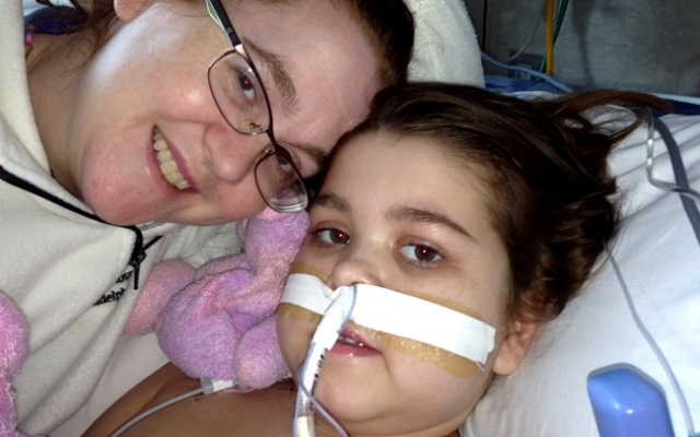 June 28, 2013: 10-year-old Sarah Murnaghan on the day her family announced she had a second lung transplant after the first one failed.