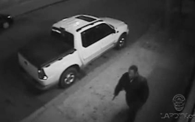 Police released this image of a man suspected of ambushing a pair of Los Angeles police detectives on June 25, 2013.