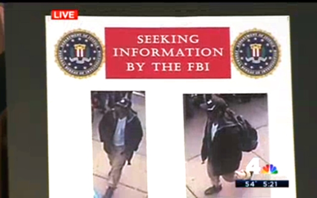 The FBI released photos Thursdays of two suspects wanted in connection with the Boston Marathon bombing Monday.