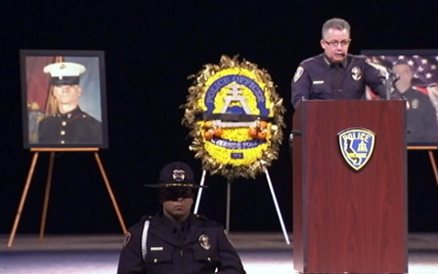 Riverside Chief Sergio Diaz called Officer Mike Crain
