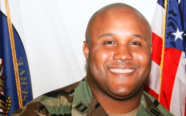 This undated photo released by the Los Angeles Police Department shows suspect Christopher Dorner, a former Los Angeles officer now being sought as the suspect in multiple shootings. After Dorner published an online manifesto that's extremely critical of the LAPD, from which he was fired, he garnered support on social media.