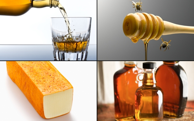 Whiskey, honey bees, muenster cheese and maple syrup top the list of the biggest food-related heists. Thieves took 500,000 bees from a local beekeeper in Canada.