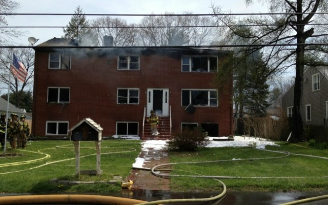 A fire destroyed a residence on Case St. in Farmington today.