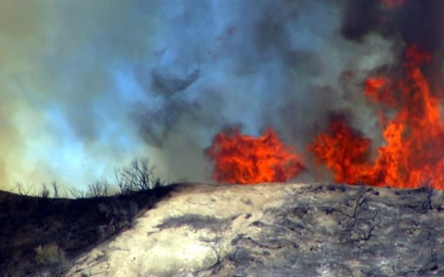 The Powerhouse fire burns north of Santa Clarita Thursday May 30, 2013.