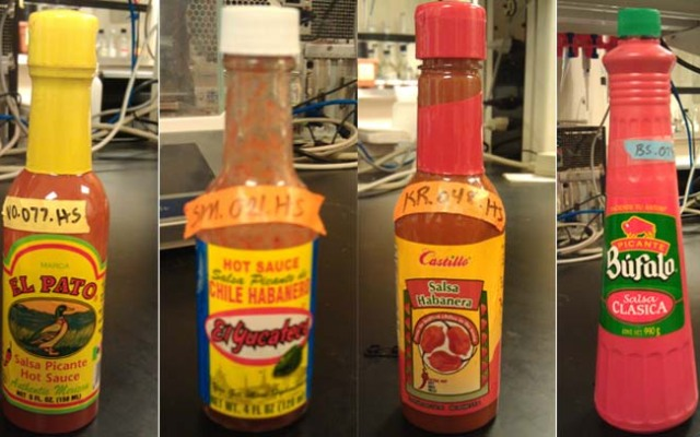 These hot sauces, imported to the U.S. from Mexico, were found to have concentrations of lead greater than what the FDA and USDA recommends, according to researchers at the University of Nevada, Las Vegas.