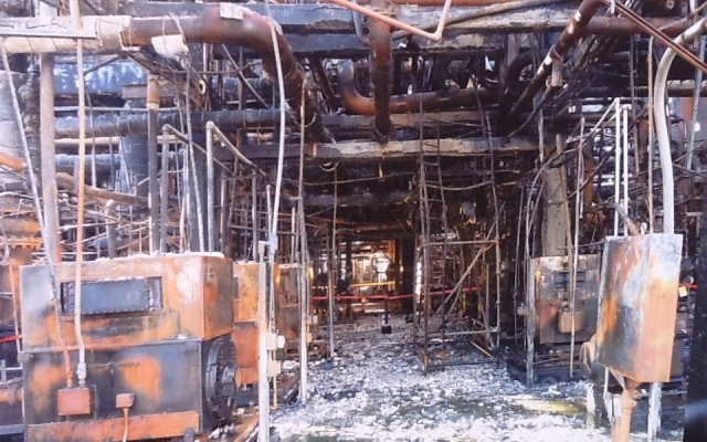 FILE ART - This is an image of Chevron after the August 2012 fire.
