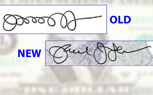 Treasury Secretary Jack Lew has created a new signature that will appear on dollar bills starting this fall.