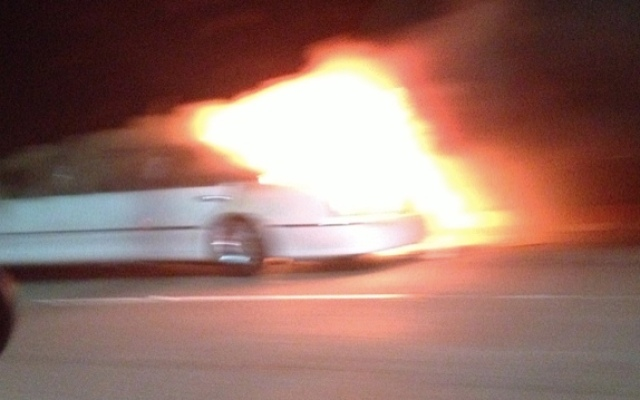The limo caught fire trapping people inside, according to witnesses.